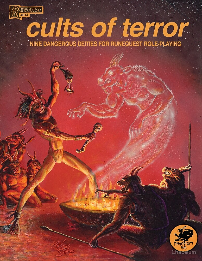 Cults of Terror - front cover by Chaosium