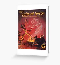 Cults of Terror - front cover Greeting Card