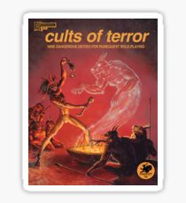 Cults of Terror - front cover Sticker