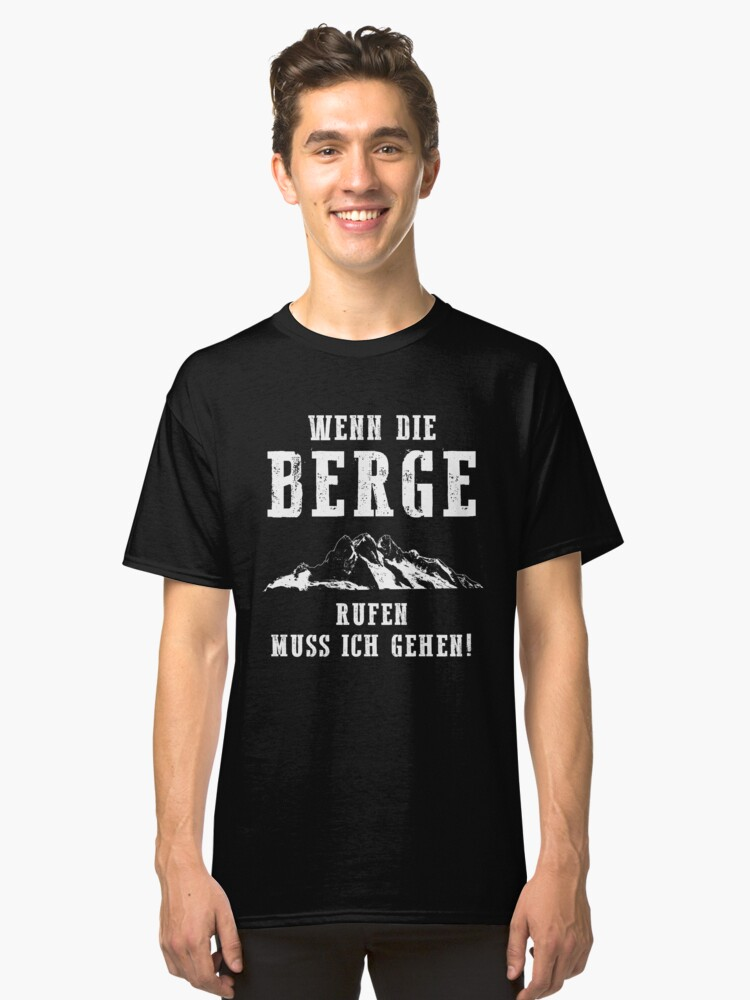 Berge rufen Classic T-Shirt Front