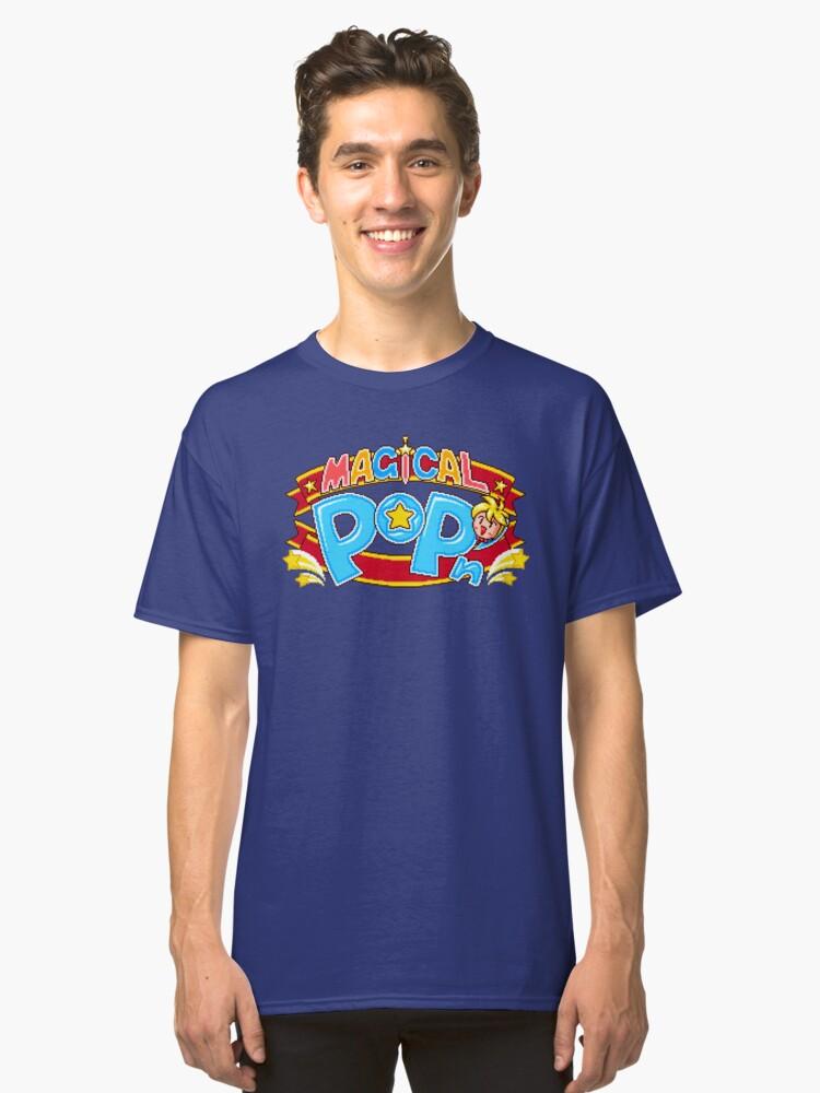 Magical Pop'n (SNES Title Screen) Classic T-Shirt Front