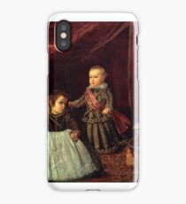 Diego Velázquez  Don Baltasar Carlos with a Dwarf iPhone Case/Skin