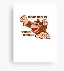 Donkey Kong How Big Canvas Print