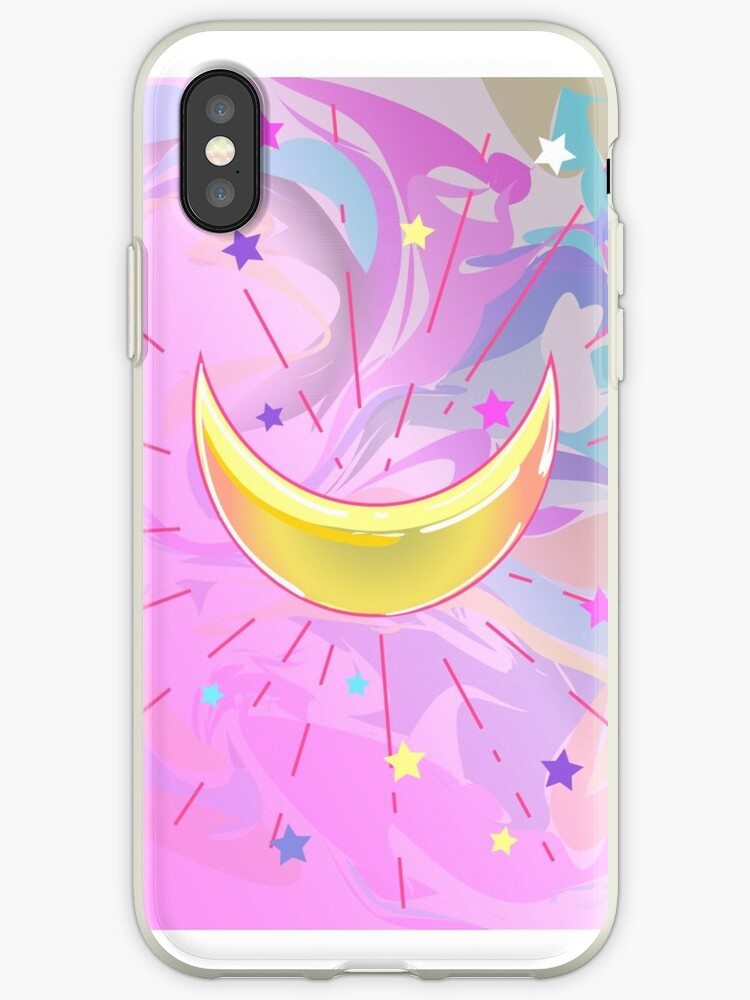 Hipster background with marble petrol pattern and crescent moon on it with rays and stars. Fashion design. Pastel goth, vibrant colors.  by MilaOkie