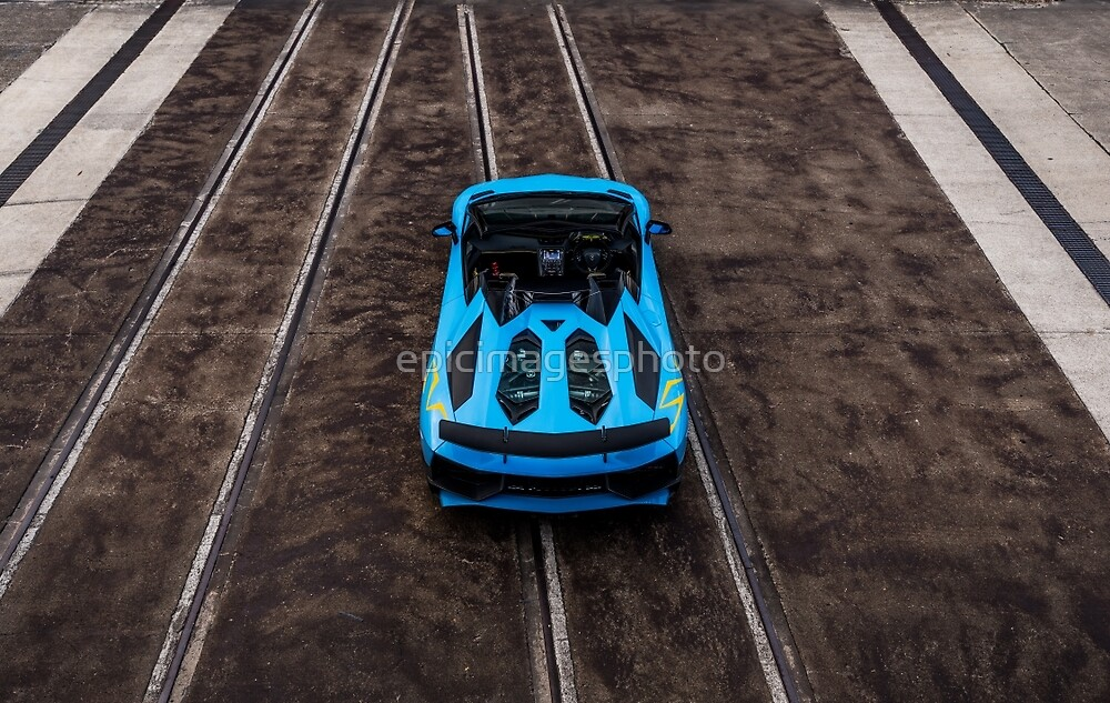 Blue Supercar V12 by epicimagesphoto