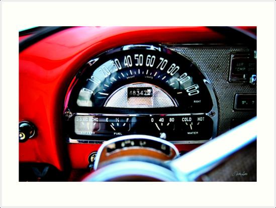 Pontiac 1954 Dash by Nathan Little
