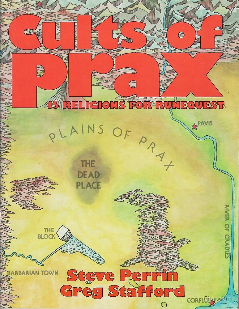 Cults of Prax - William Church cover by Chaosium