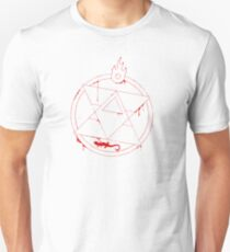 Roy Mustang - Blood Transmutation Circle - White Unisex T-Shirt