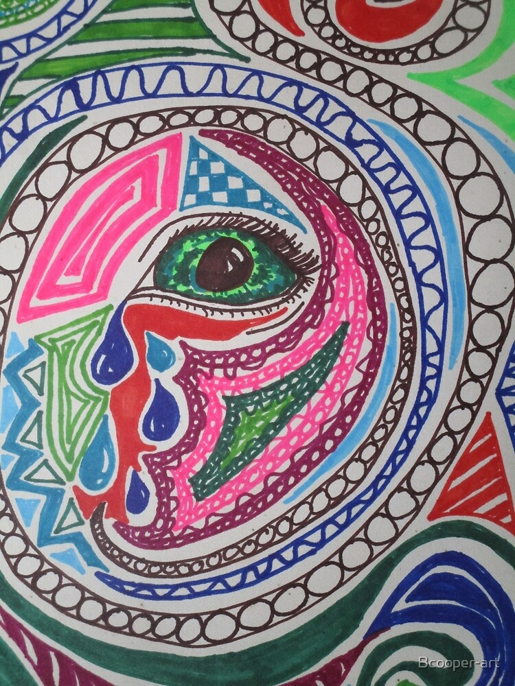 Miscellaneous Coloured Sharpie Design  by Bcooper-art