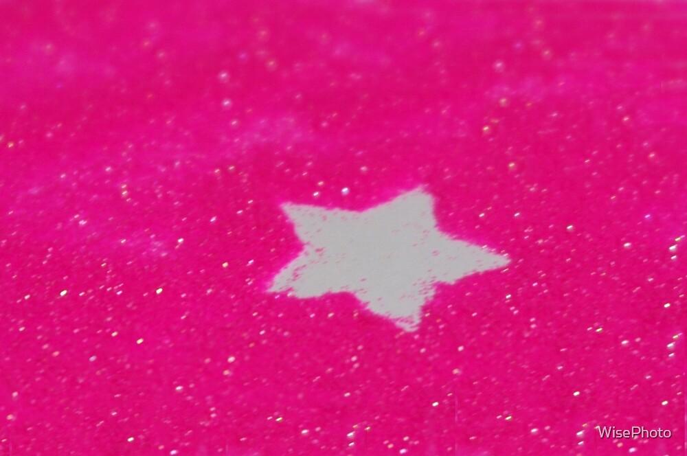 Pink Glitter White Star by WisePhoto