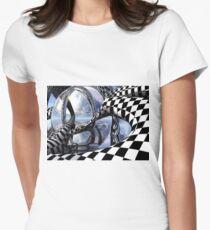 optical art Women's Fitted T-Shirt