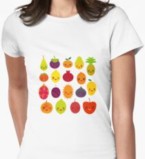 Happy Fruit Womens Fitted T-Shirt