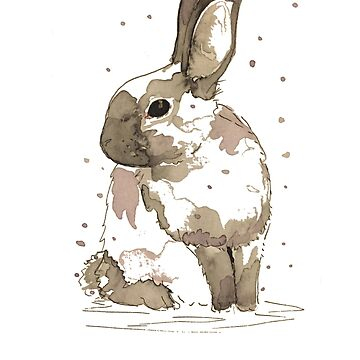 Watercolour Rabbit by BISCUITANDCO