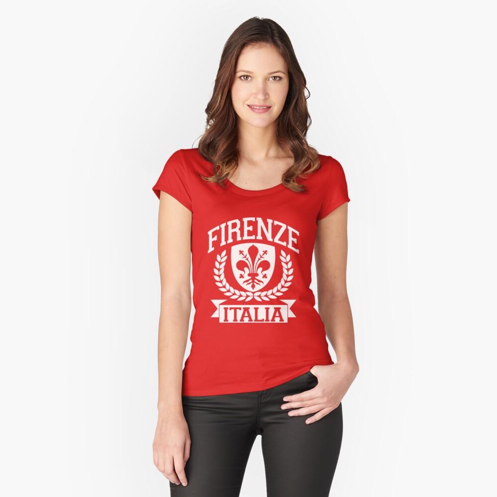 Firenze, Italien Tailliertes Rundhals-Shirt