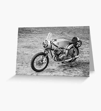 German Classic Racing Motorcycle Greeting Card