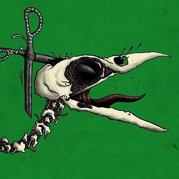Scissor Crow by MackVanLobster