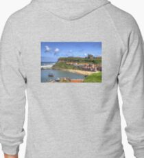 The Endeavour in Whitby Harbour Zipped Hoodie