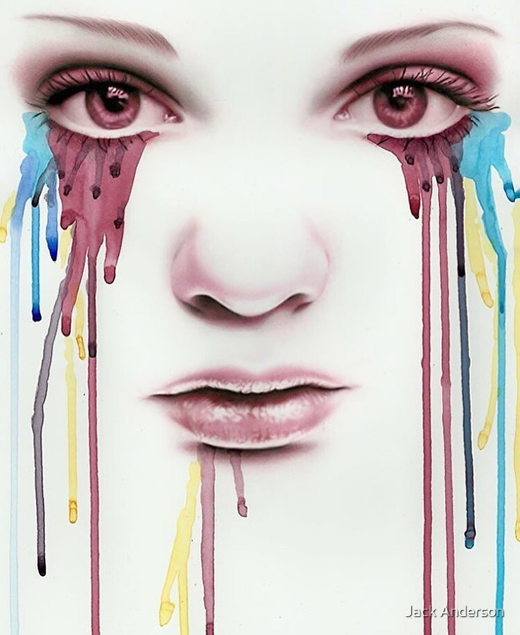 Crying Girl by Jack Anderson