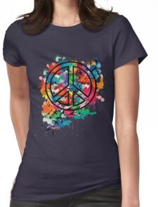 Peace & Freedom Womens Fitted T-Shirt