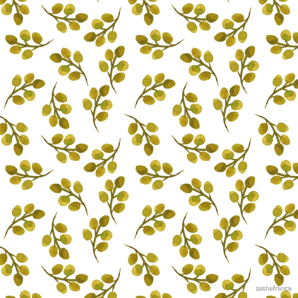 Green leaves pattern. by sashafrance