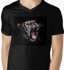 Tiger Animals Black and White Men's V-Neck T-Shirt