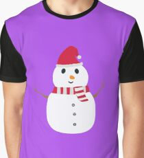Chirstmas Snowman with winterscarf Graphic T-Shirt