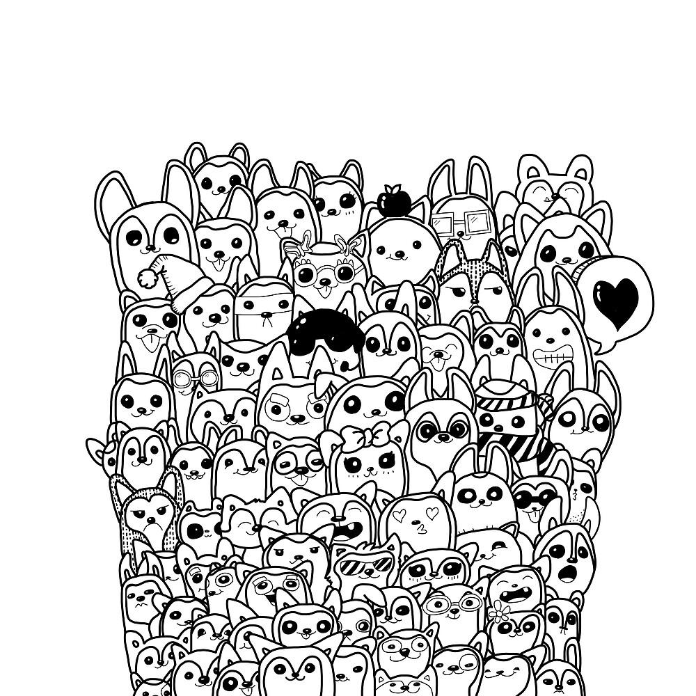 Husky Doodle v1 by OneWeirdDude
