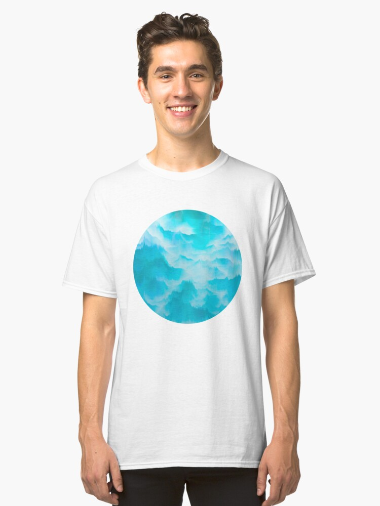 Clouds and mountains. Abstract. Classic T-Shirt Front