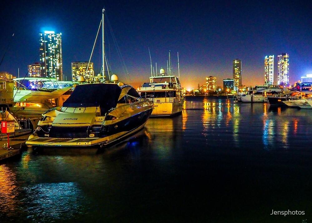 Gold Coast Night Lights, Australia by Jensphotos