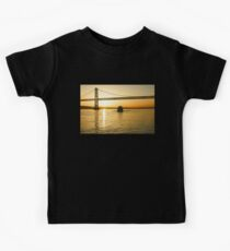 Golden Sunrise Ferry Ride Under the Bay Bridge in San Francisco Kids Tee