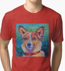 Dog portrait Pet painting Tri-blend T-Shirt