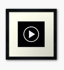 Fun play button icon Framed Print