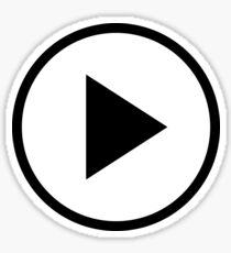 Fun play button icon Sticker