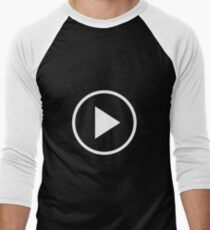Fun play button icon Men's Baseball ¾ T-Shirt