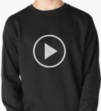Fun play button icon Pullover