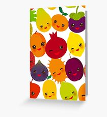 Happy Fruit Greeting Card