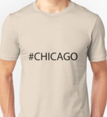 #Chicago Black Unisex T-Shirt