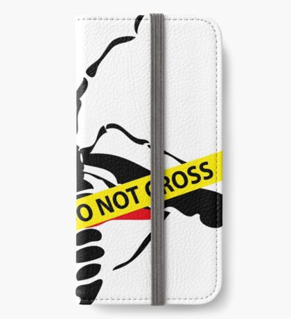 Crime scene mosquito iPhone Wallet