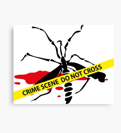 Crime scene mosquito Canvas Print