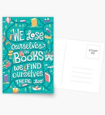 Lose ourselves in books Postcards