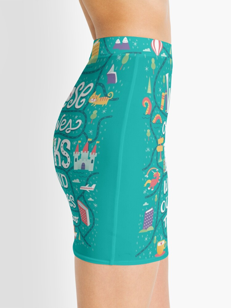 Alternate view of Lose ourselves in books Mini Skirt