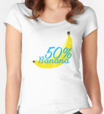 50% banana Women's Fitted Scoop T-Shirt