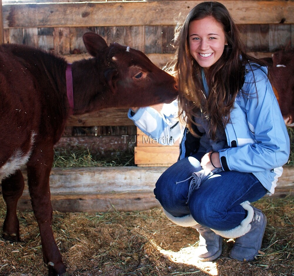 Kate With A Friend - Fryeburg, Fair 2010 by T.J. Martin