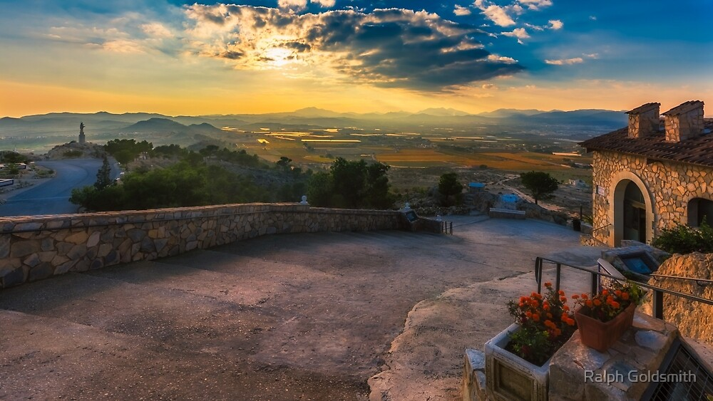 The view from Cueva de San Pascual near sunset by Ralph Goldsmith