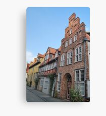 Lübeck - façade [1] Canvas Print