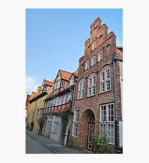 Lübeck - façade [1] Photographic Print
