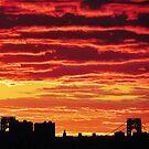 Sunset over New York City  by Alberto  DeJesus