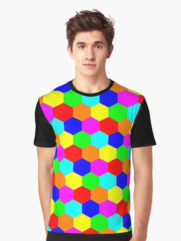 Hexagon pattern Graphic T-Shirt Front