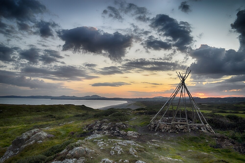 Roundhouse above Aberech Sands, Hafan, Wales by erobphotography