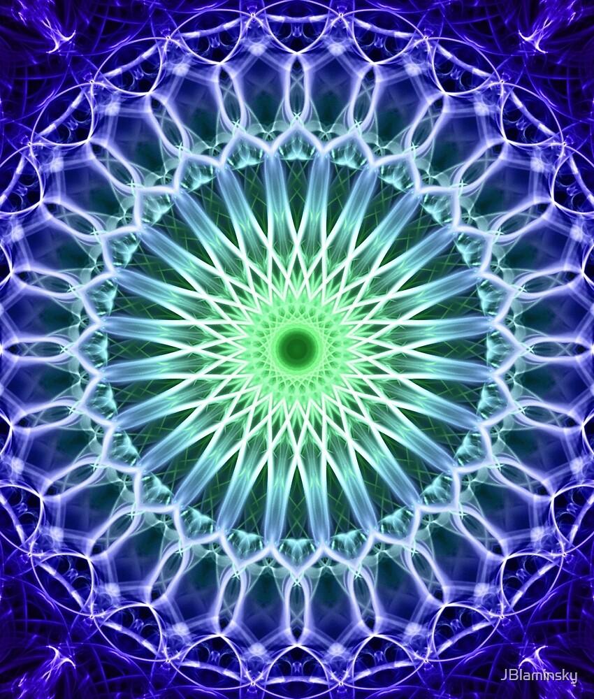 Mandala in dark blue and green tones by JBlaminsky